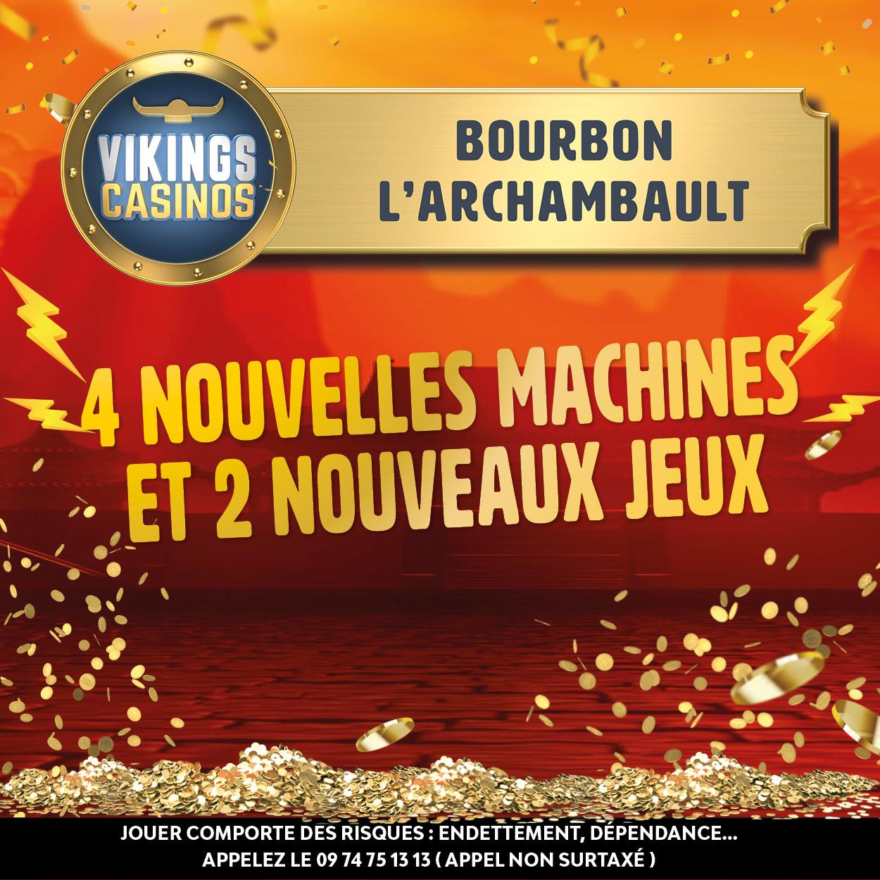 4 nouvelles machines arrivent au casino dont 3 en EXCLUSIVITE nationale !