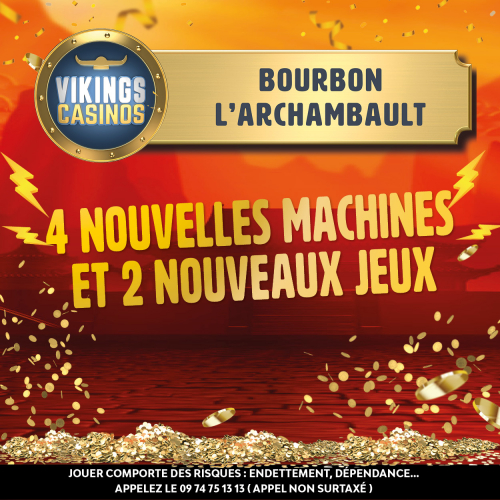 4 nouvelles machines arrivent au casino dont 3 en EXCLUSIVITE nationale !