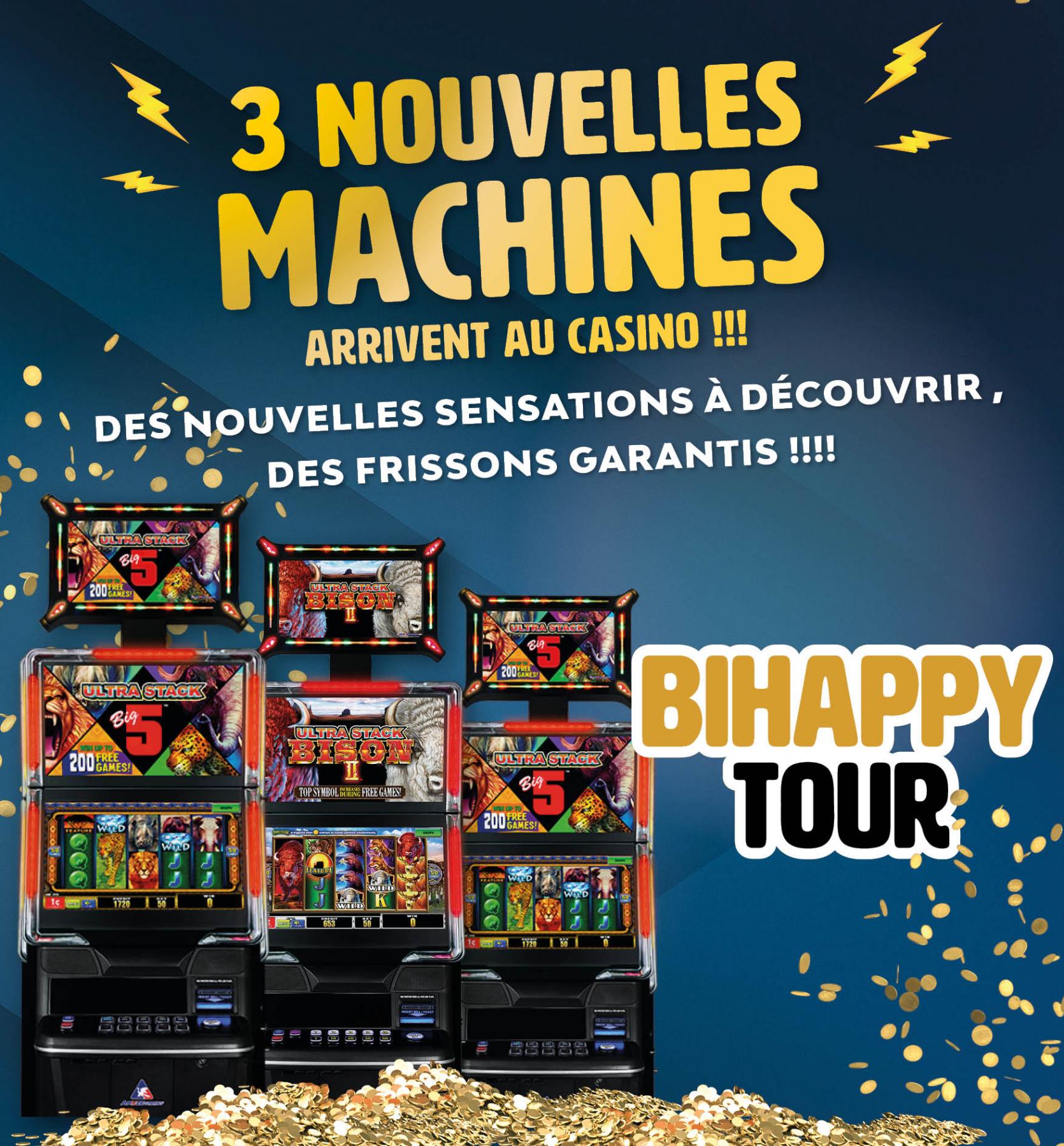 3 nouvelles machines arrivent : c'est le BiHappyTour