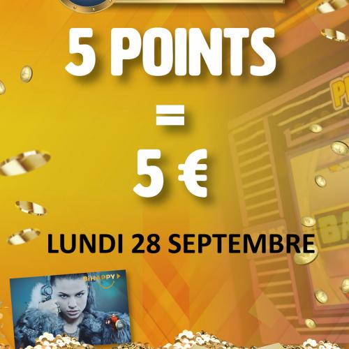 5  pts = 5 €