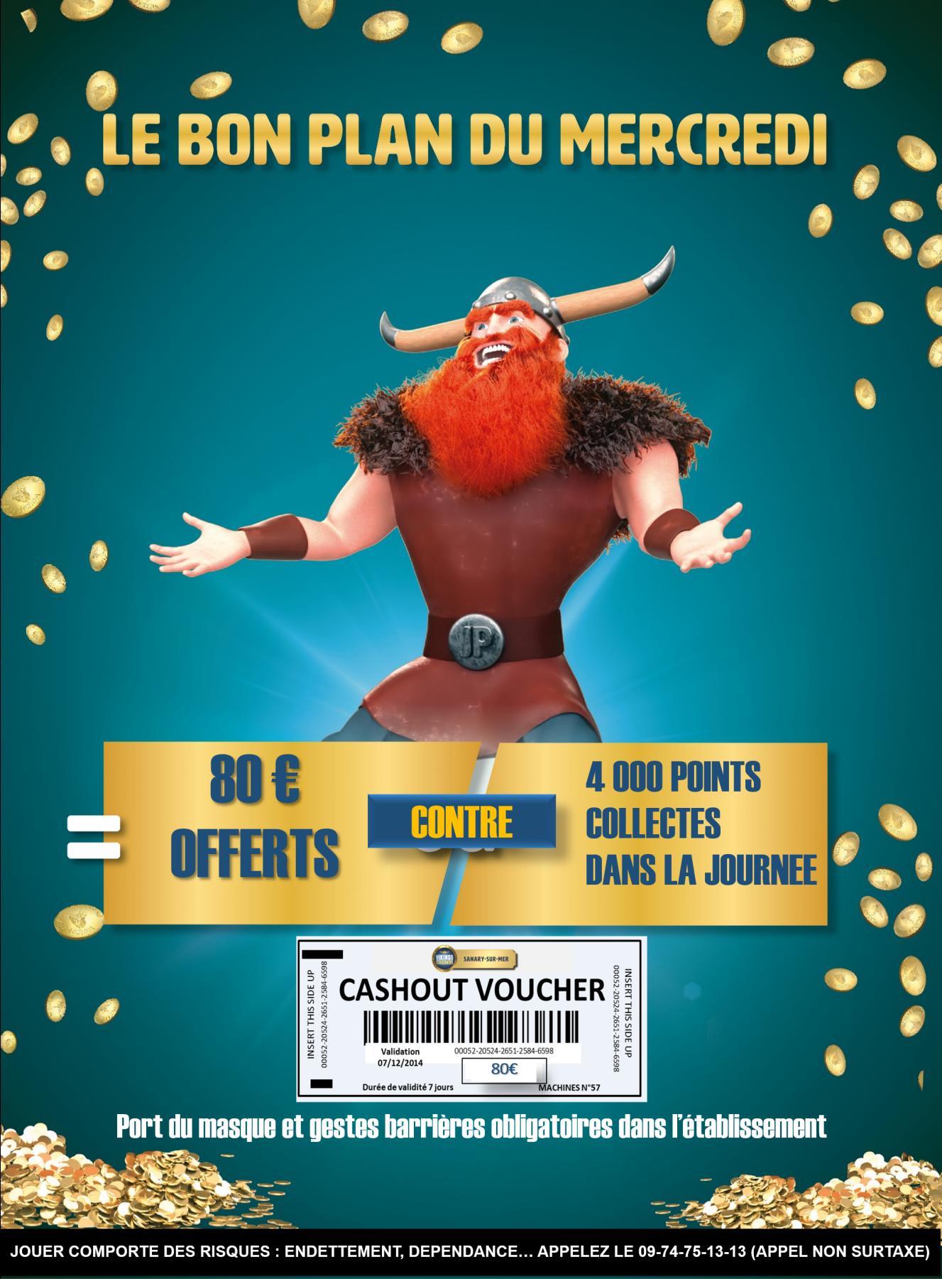 80€ OFFERTS en ticket de jeux