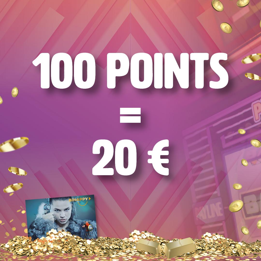 Recevez 20 € en cumulant 100 points de Fidèlitè